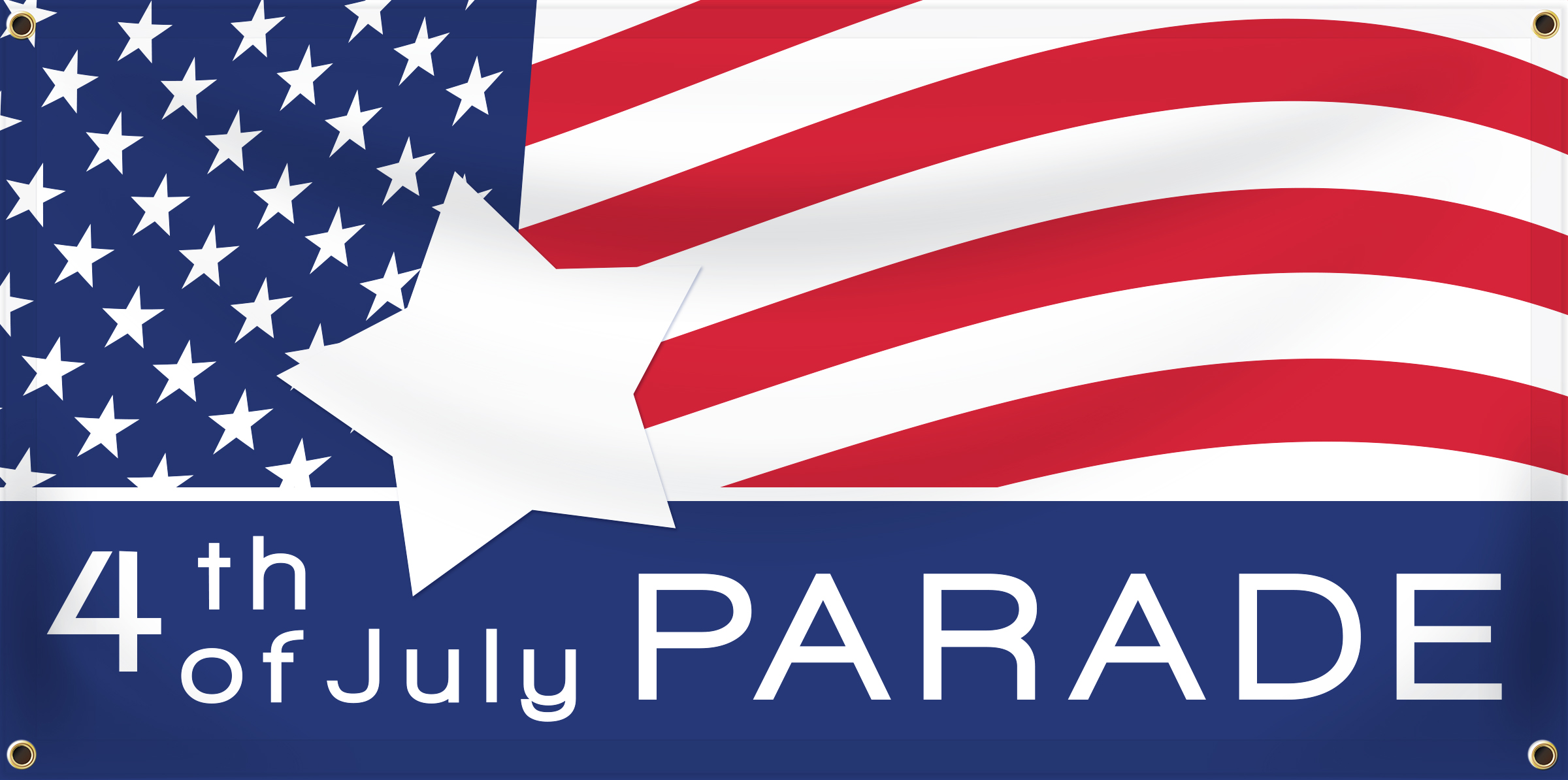 4th of July Banner Idea | LawnSigns.com