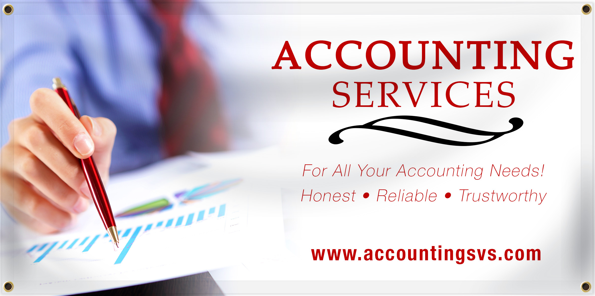 Accounting Banner Idea | LawnSigns.com