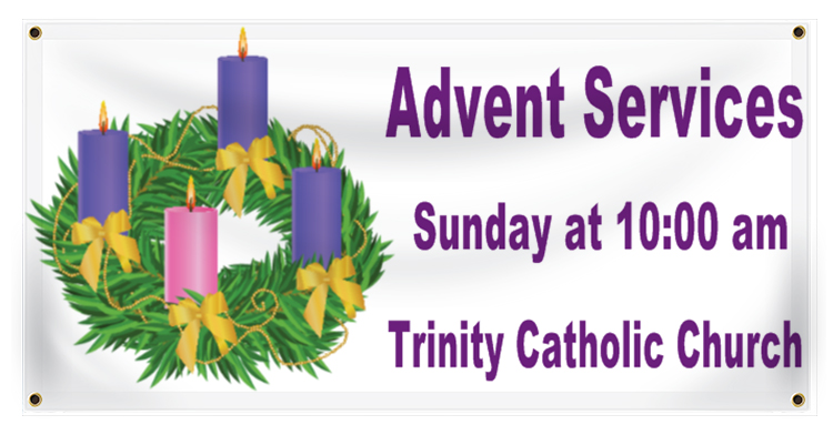 Advent Banner Idea | LawnSigns.com