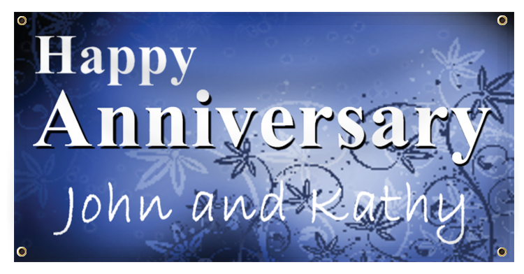 Anniversary Banner Ideas | LawnSigns.com