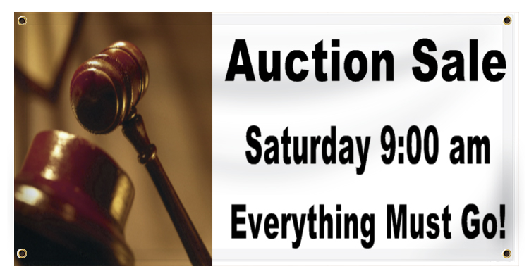 Auction Banner Ideas | LawnSigns.com