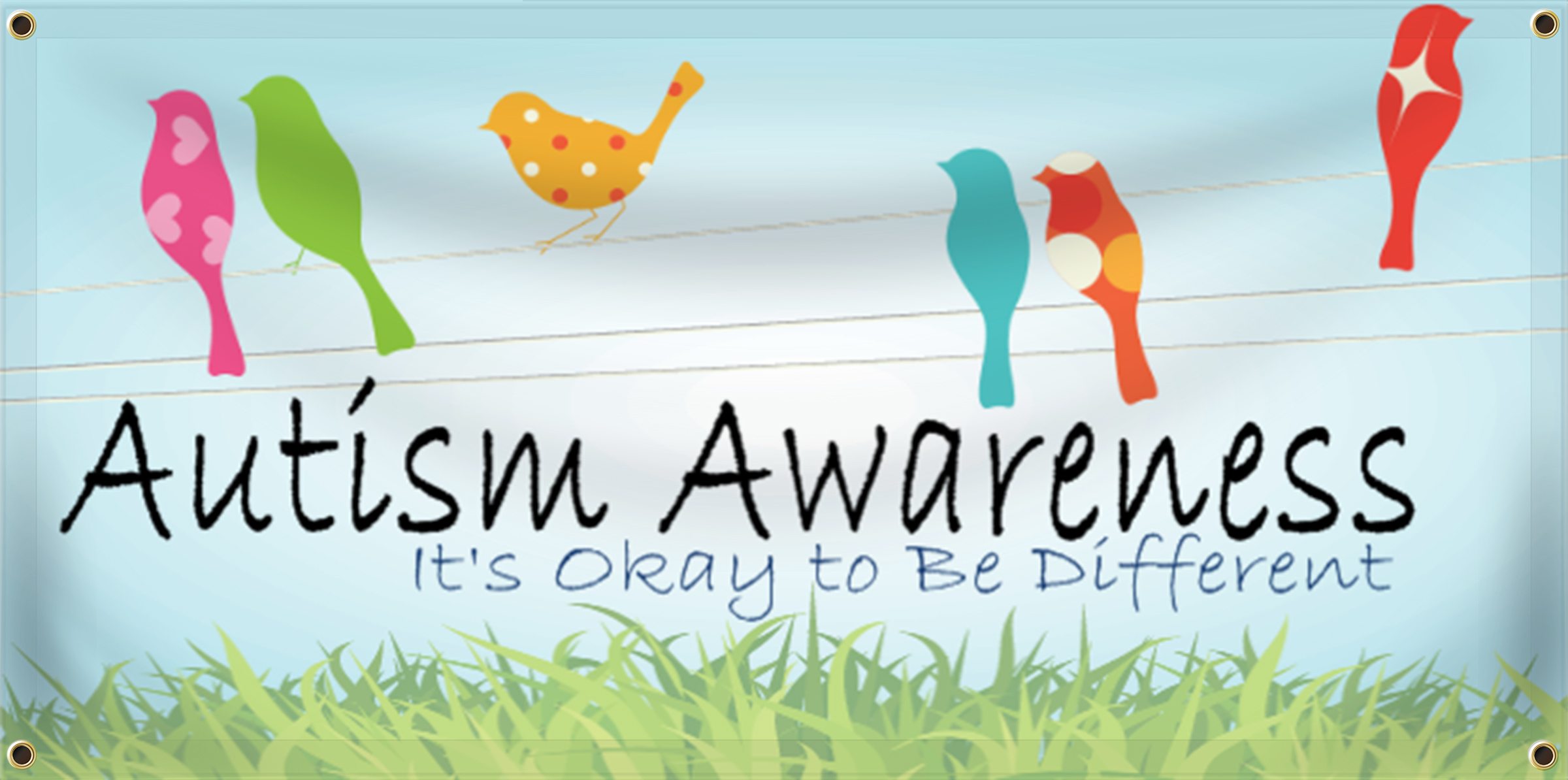 Autism Awareness Banner Idea | LawnSigns.com
