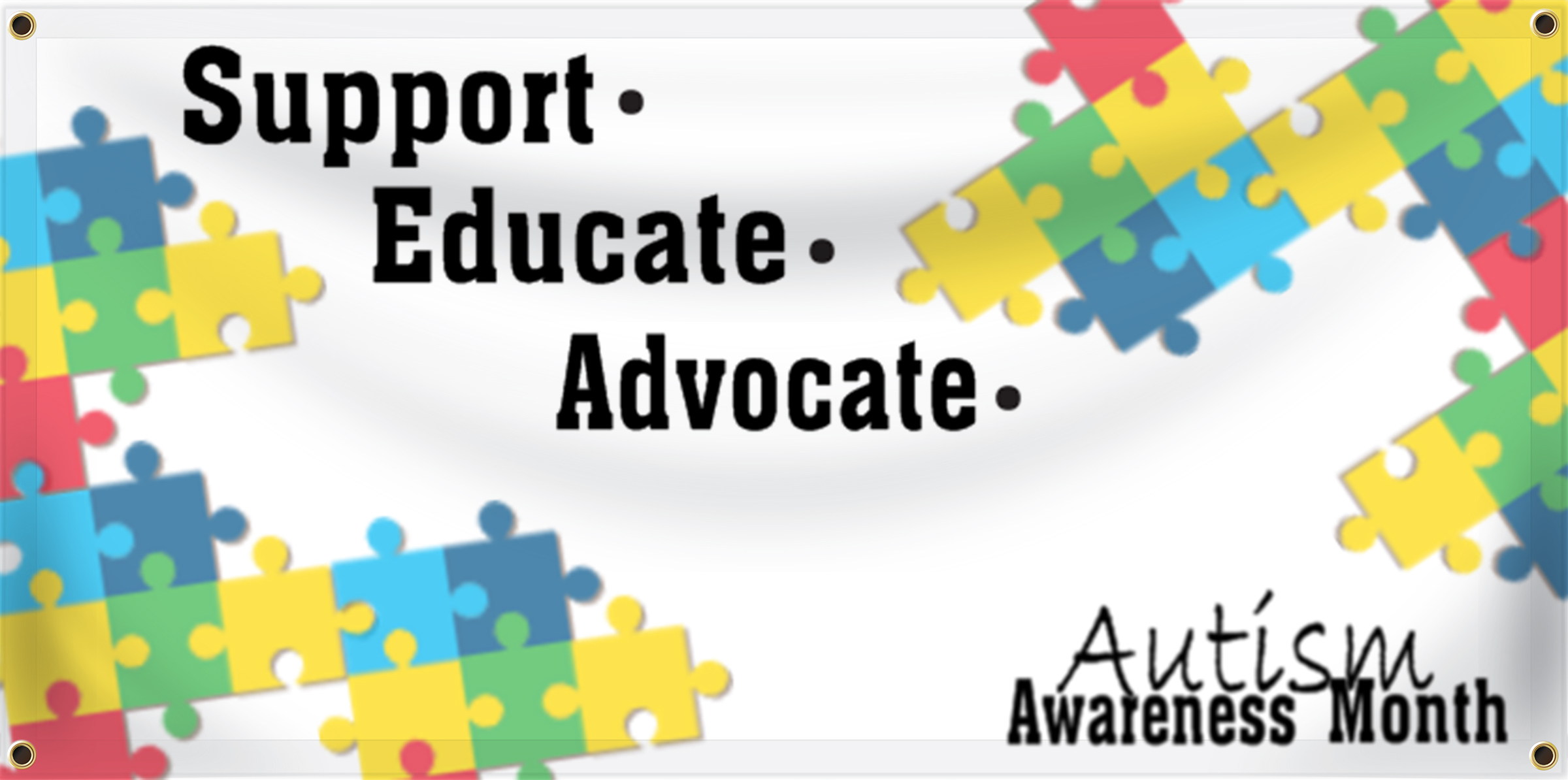 Autism Awareness Banner Ideas | LawnSigns.com