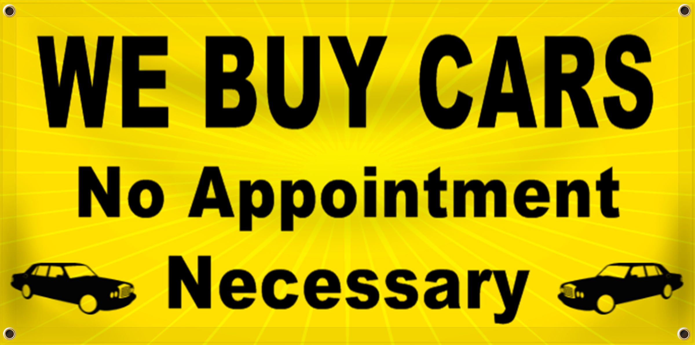 Auto Sales Banner Idea | LawnSigns.com