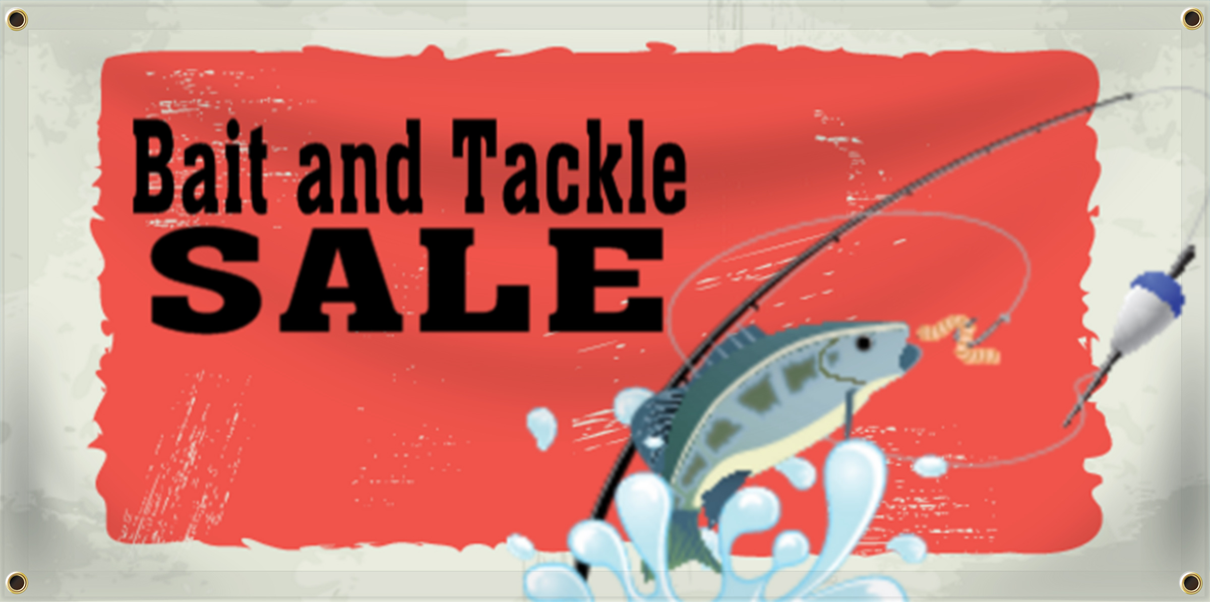 Bait and Tackle Banner Idea | LawnSigns.com
