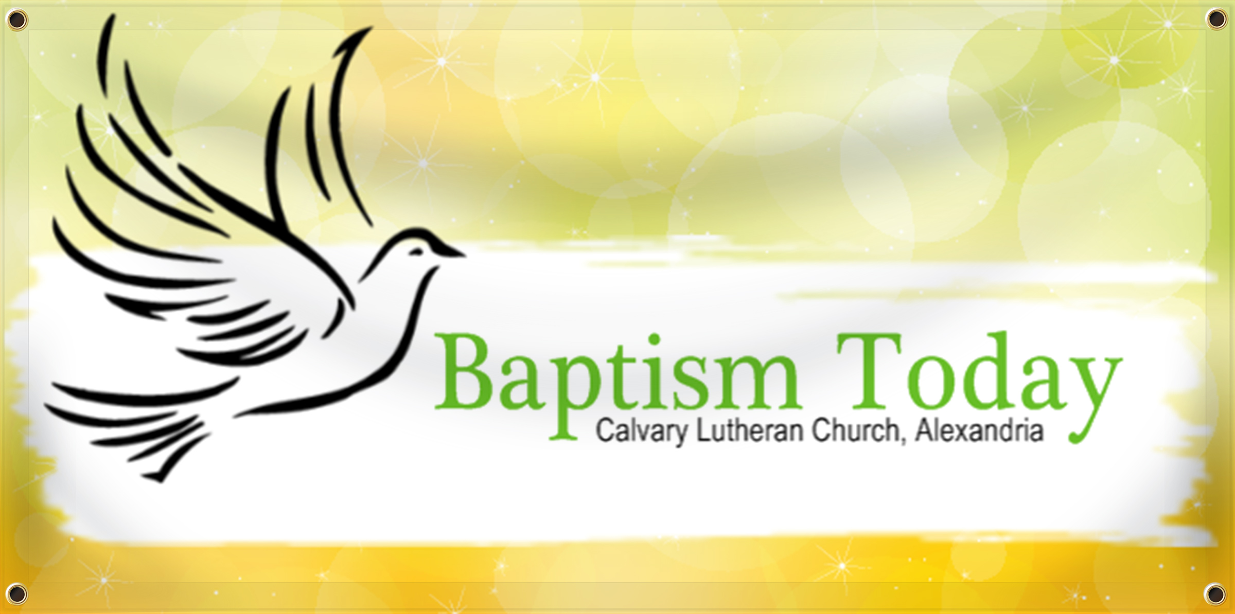 Baptism Banner Idea | LawnSigns.com