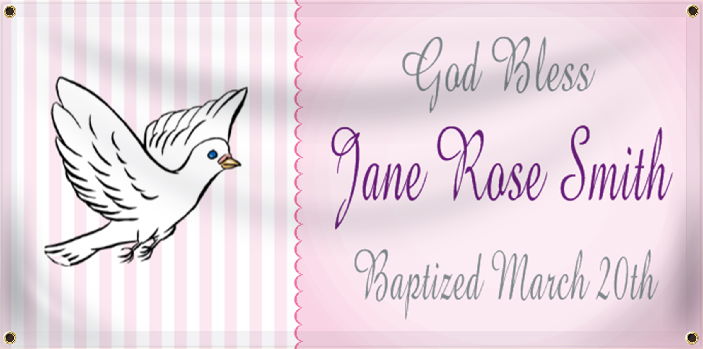 Baptism Banner Ideas | LawnSigns.com