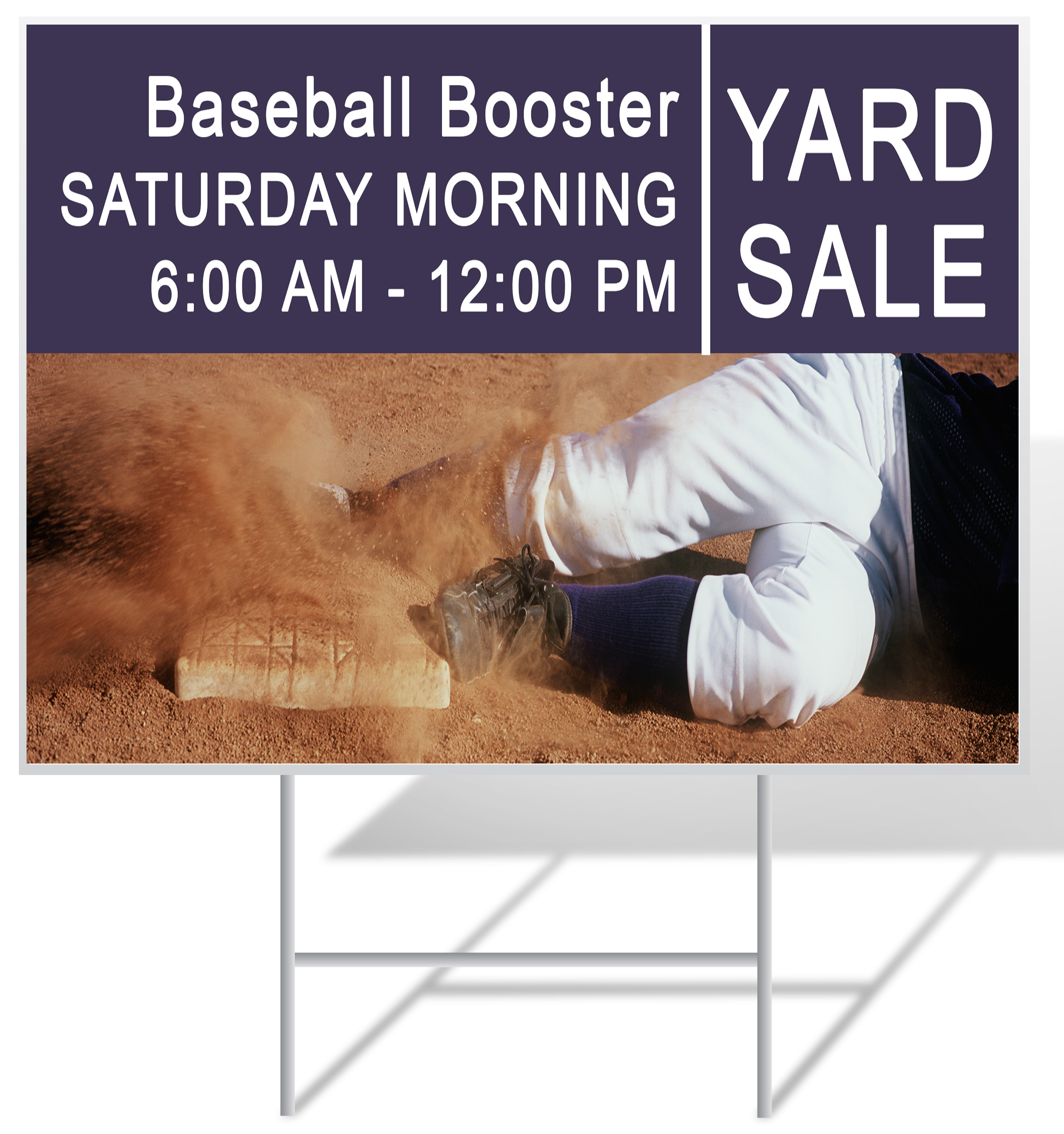 Baseball Lawn Sign Example | LawnSigns.com