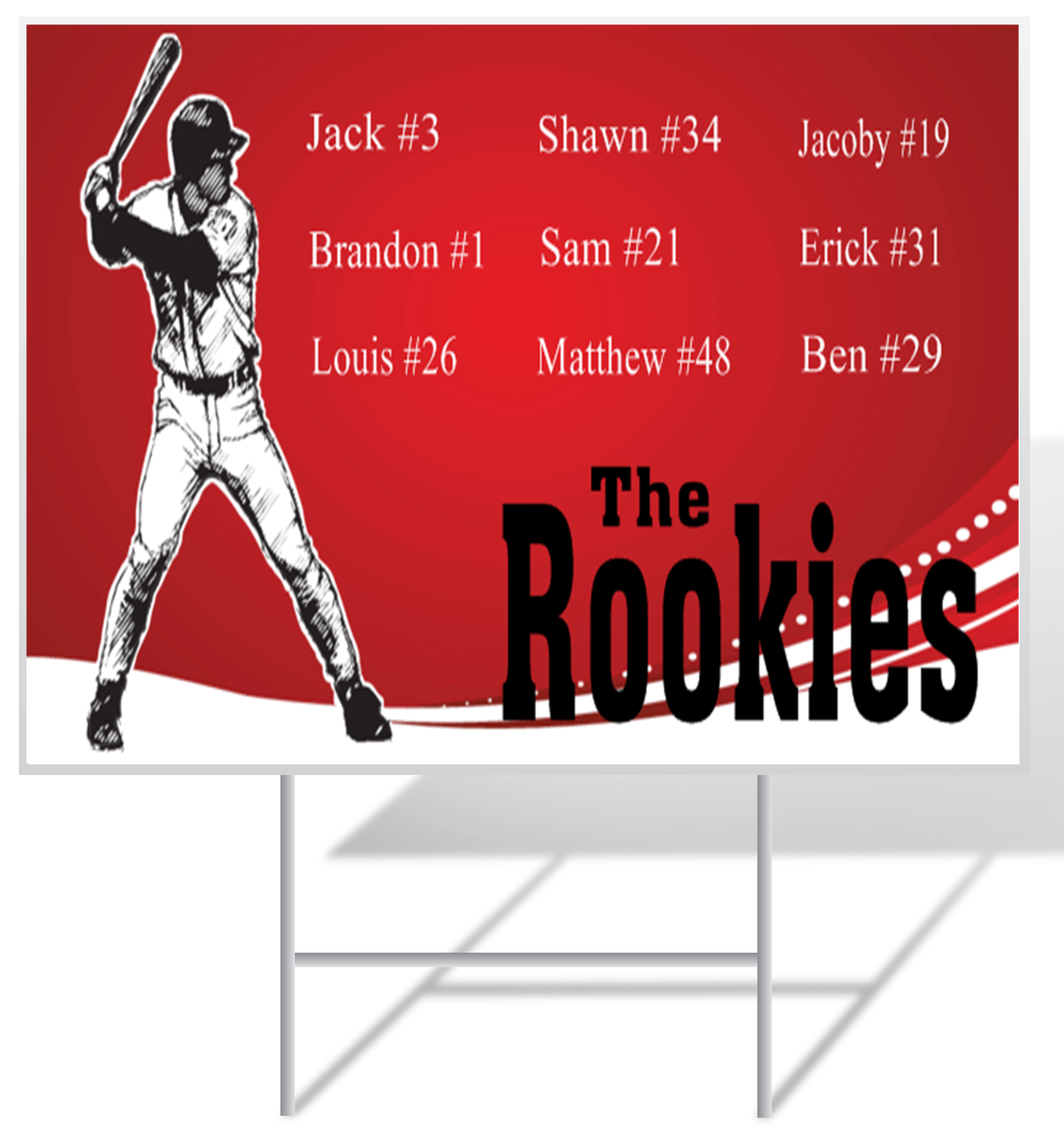 Baseball Advertising Lawn Sign Example | LawnSigns.com
