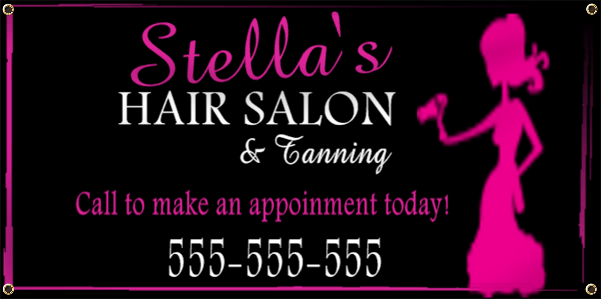 Hair Salon Banner Idea | LawnSigns.com