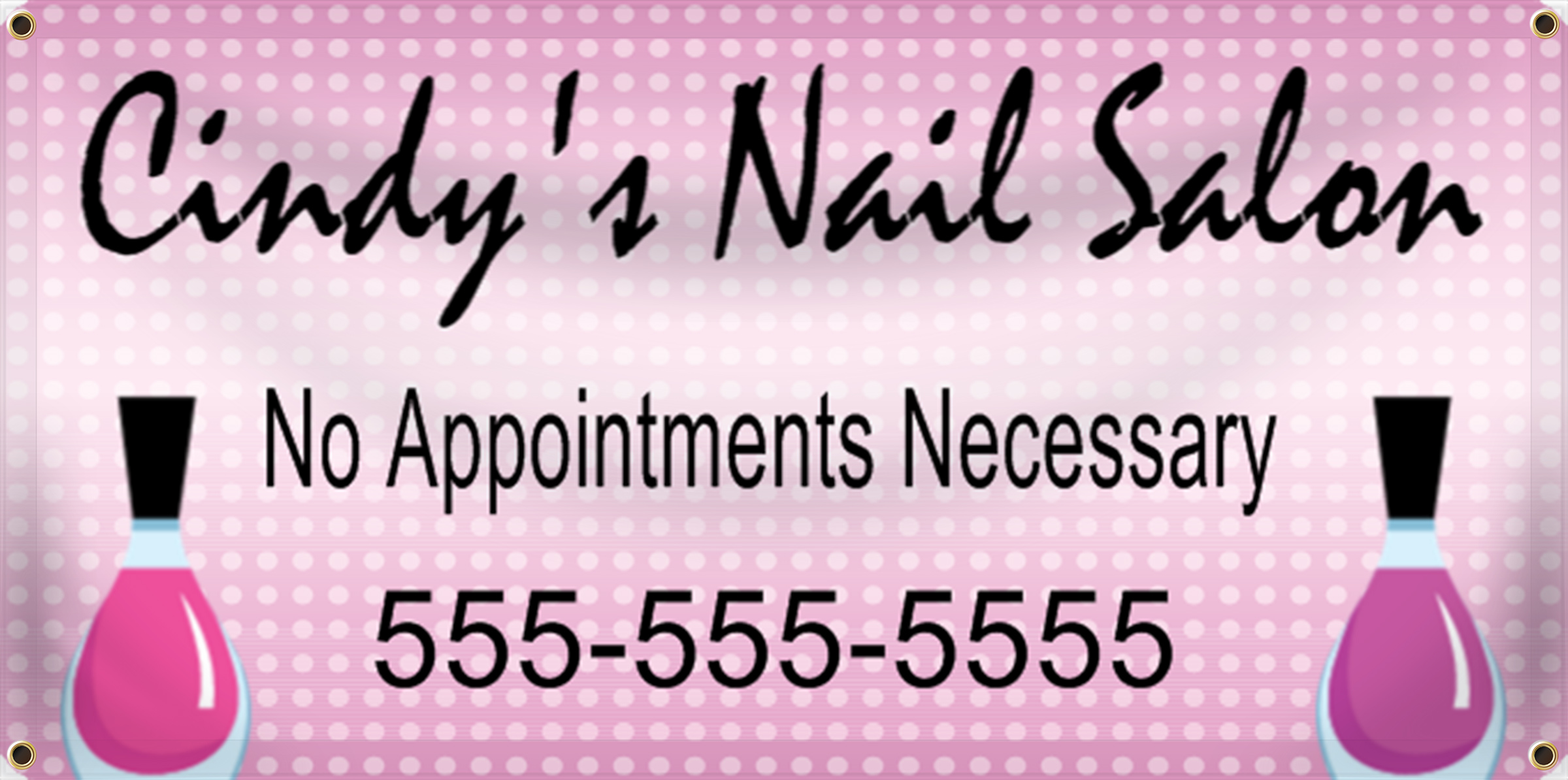 Nail Salon Banner Ideas | LawnSigns.com