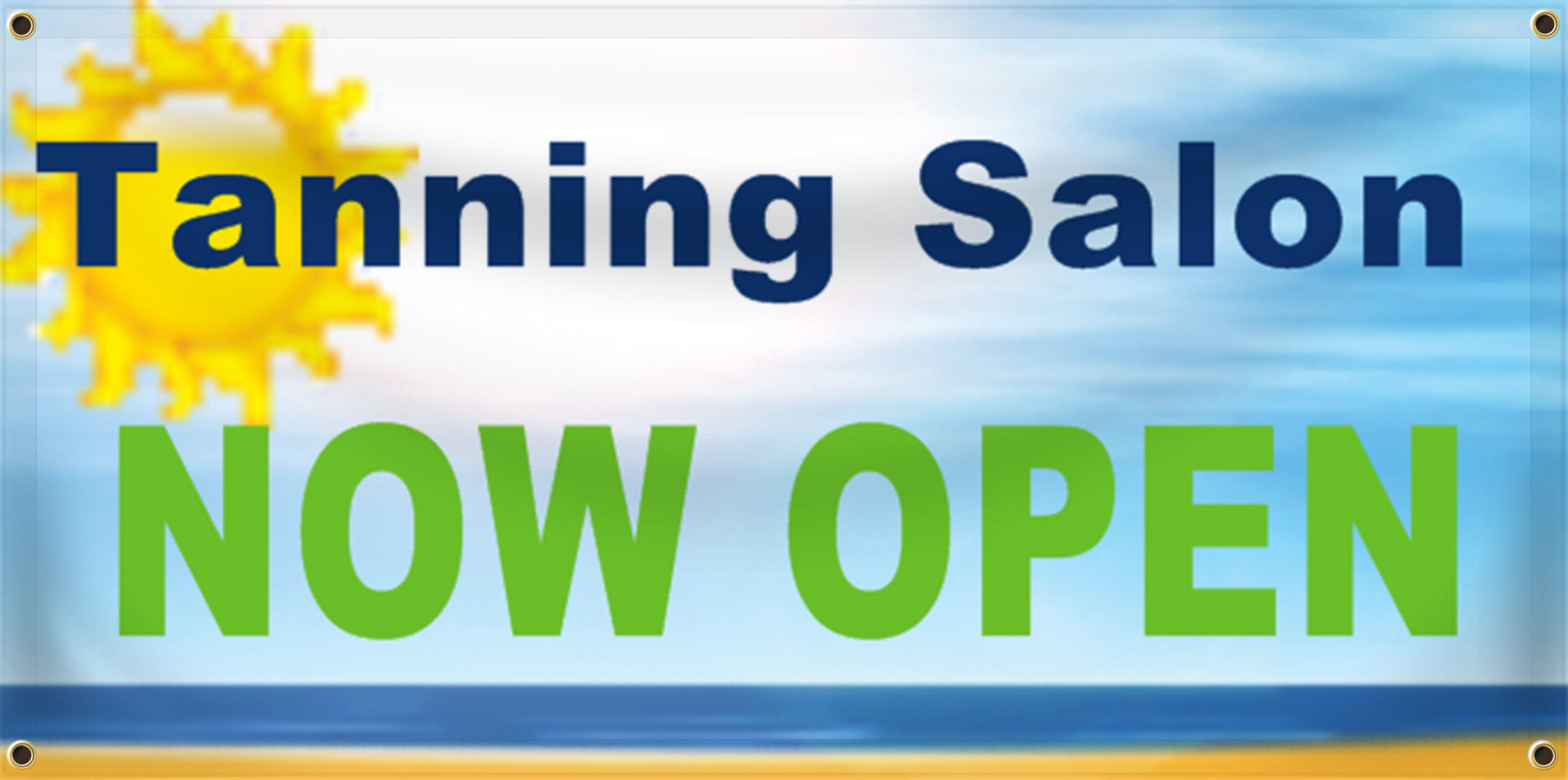 Tanning Salon Banner Idea | LawnSigns.com