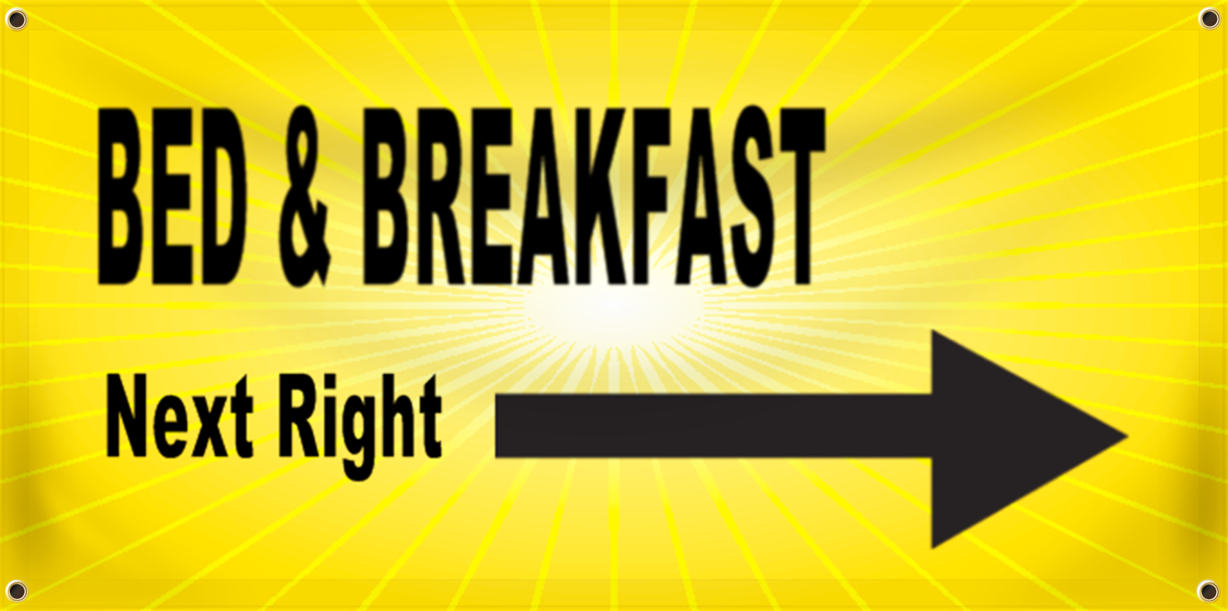 Bed & Breakfast Banner Idea | LawnSigns.com