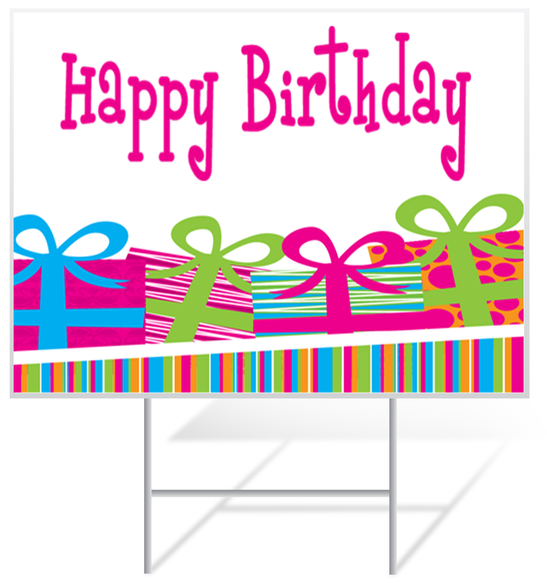 Birthday Lawn Sign Example | LawnSigns.com