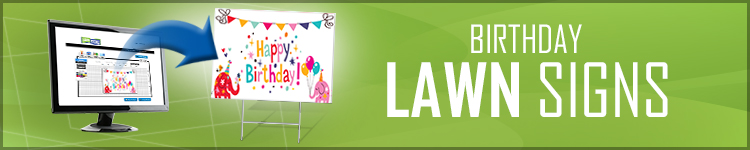 Birthday Lawn Signs | LawnSigns.com
