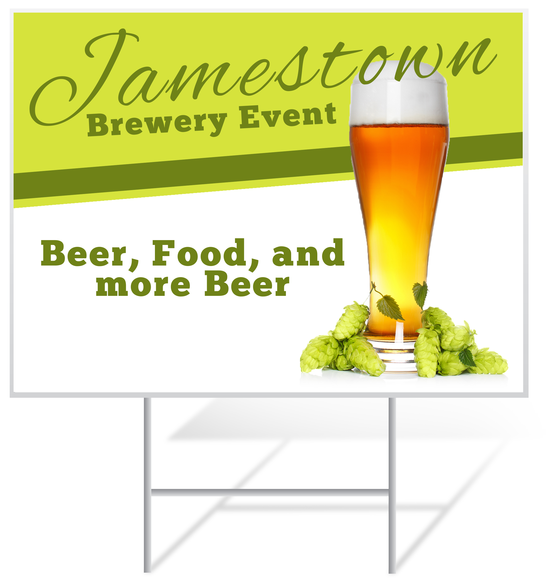 Brewery Lawn Sign Example | LawnSigns.com