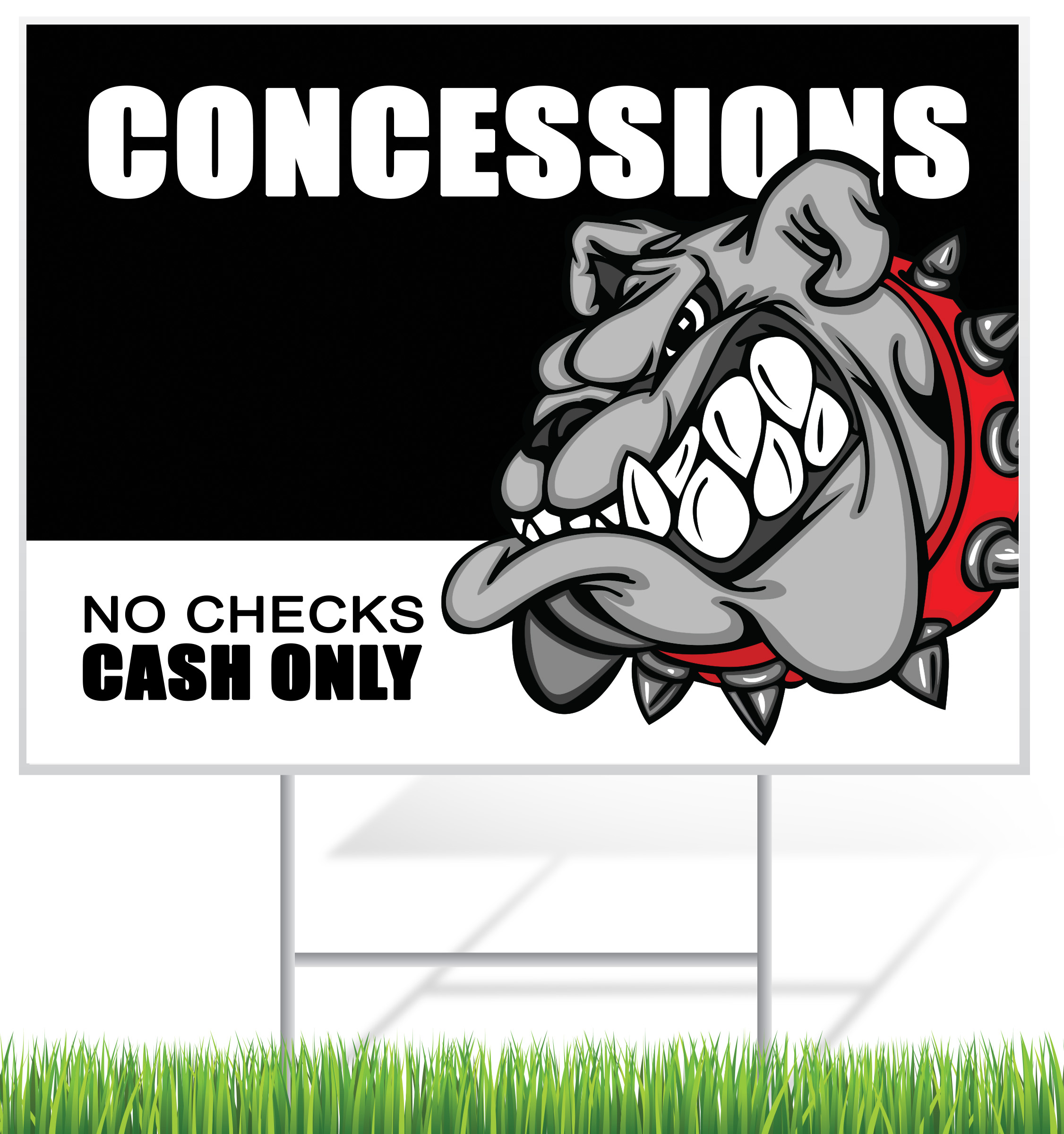Concessions Lawn Sign Example | LawnSigns.com