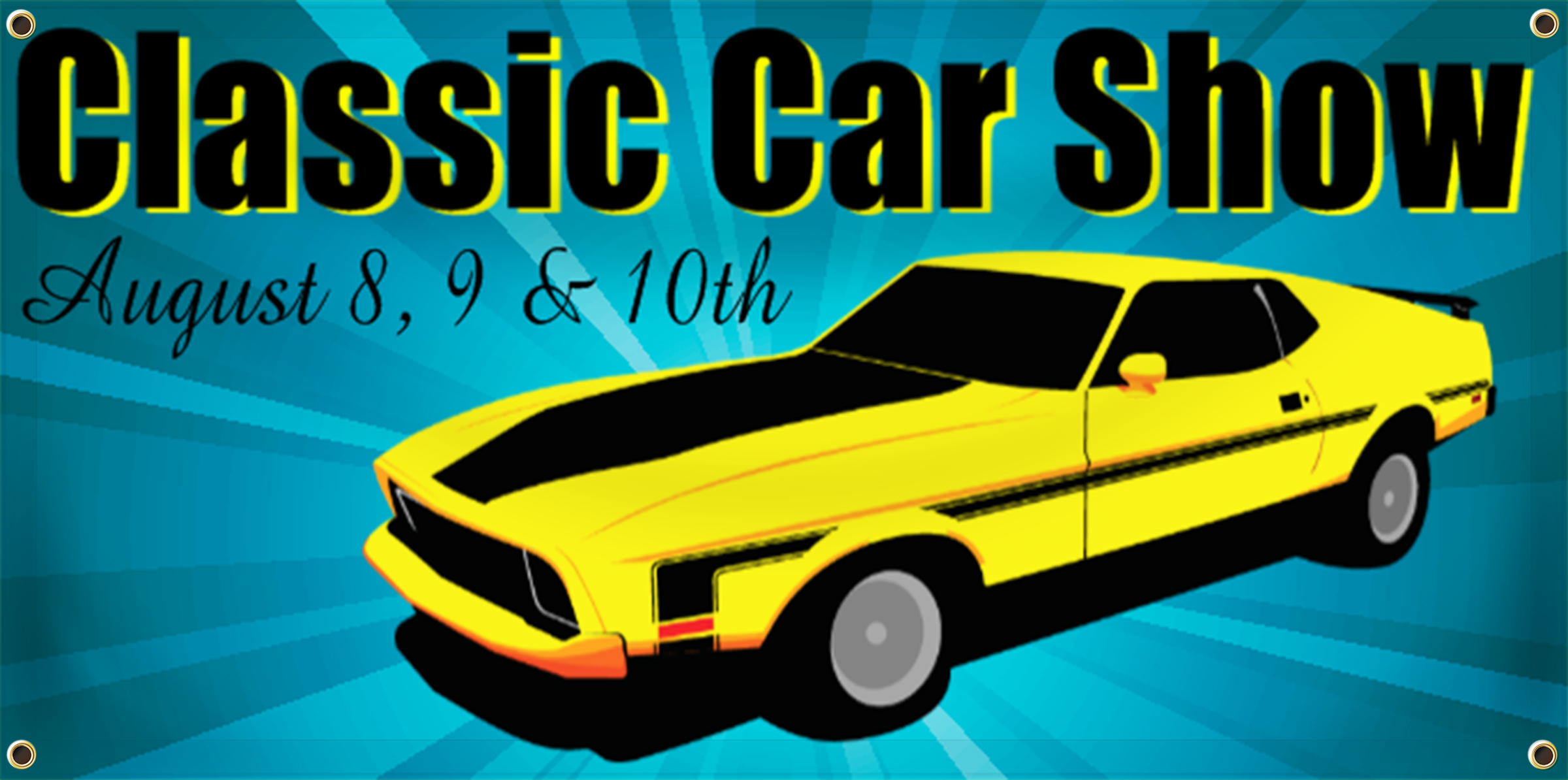 Car Show Banner Idea | LawnSigns.com