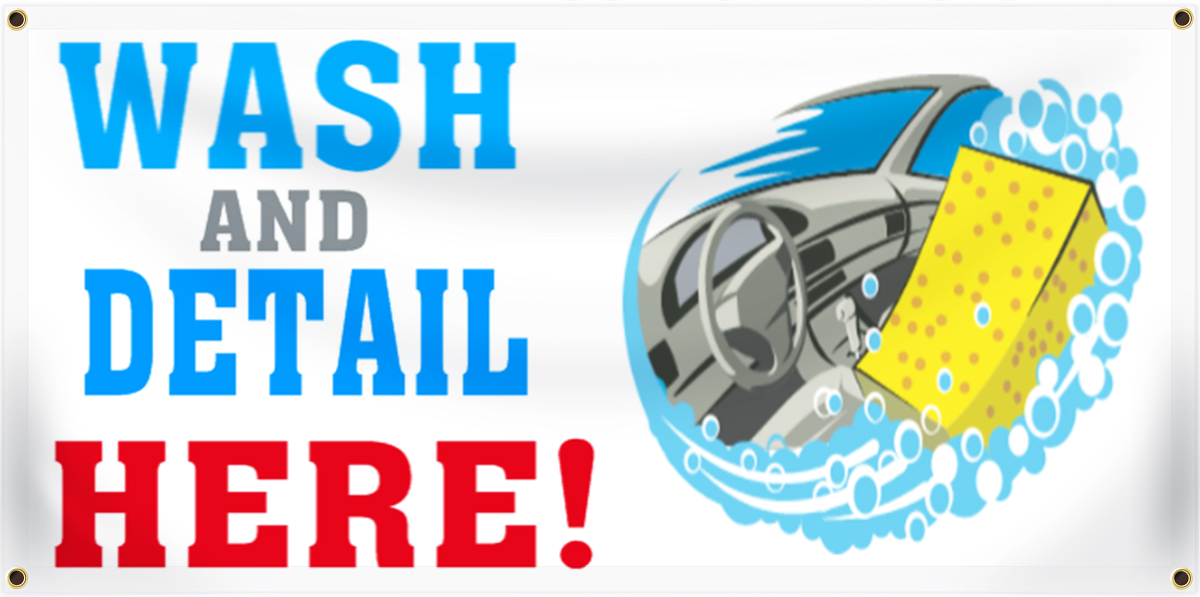 Car Wash Banner Idea | LawnSigns.com