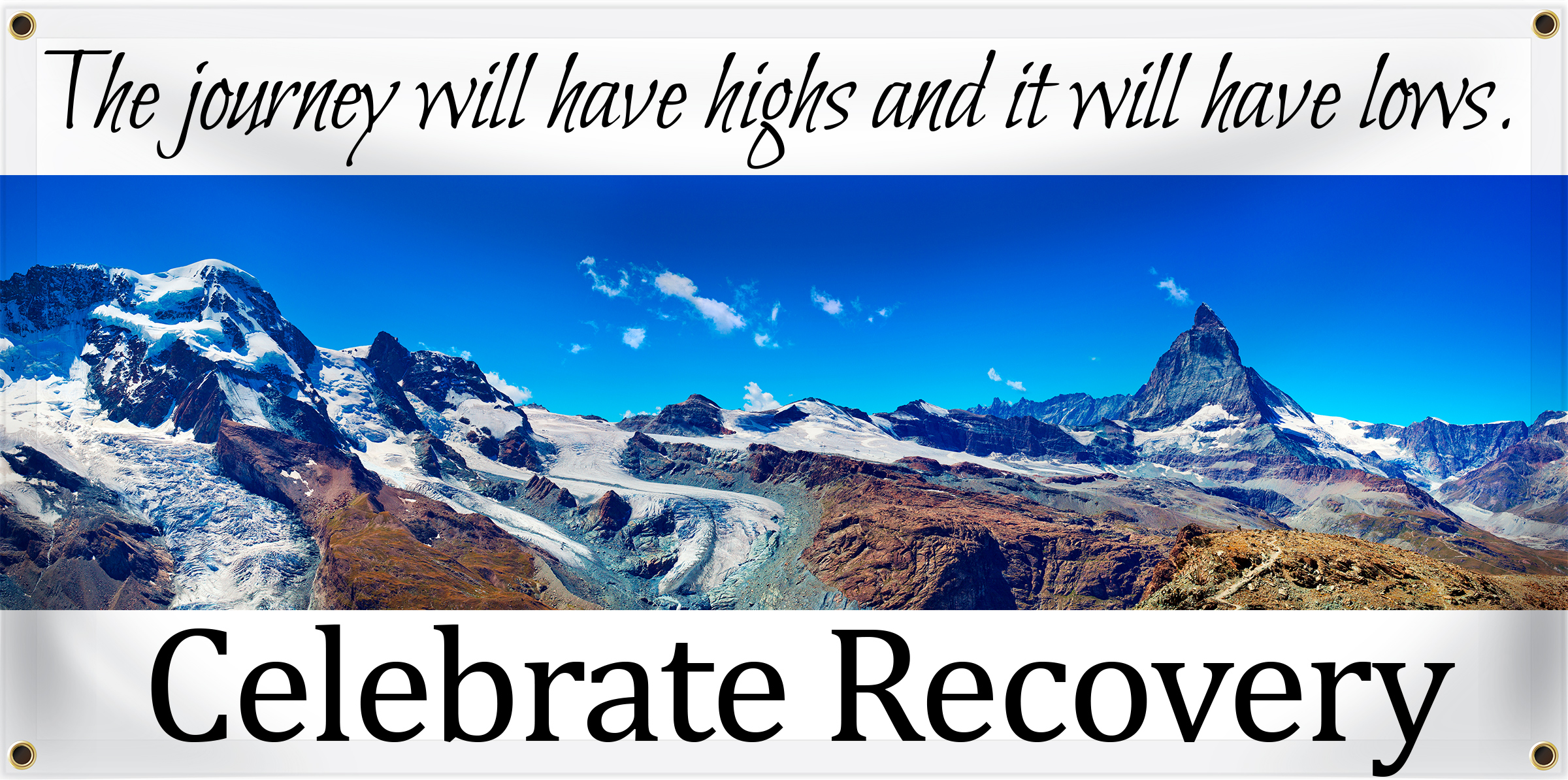 Celebrate Recovery Banner Ideas | LawnSigns.com