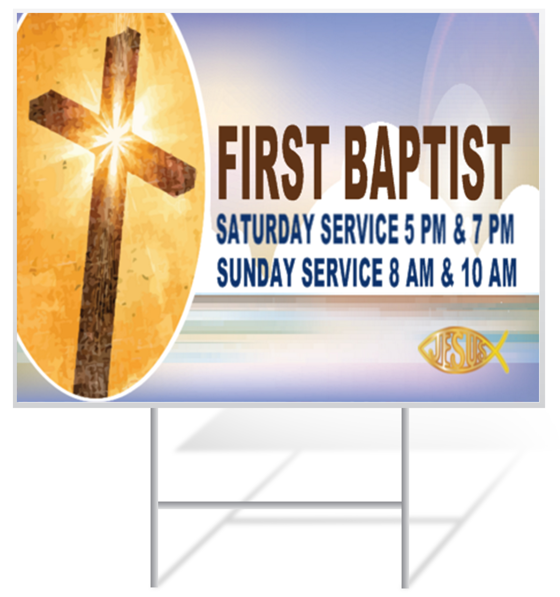 Church Lawn Sign Example | LawnSigns.com