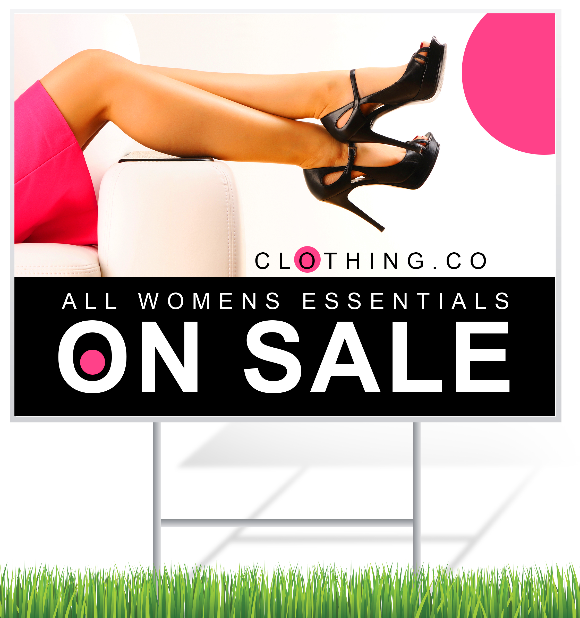 Clothing Sale Lawn Sign Example | LawnSigns.com