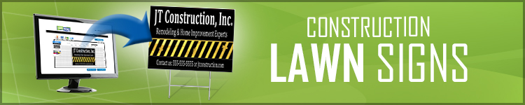 Construction Lawn Signs from LawnSigns.com