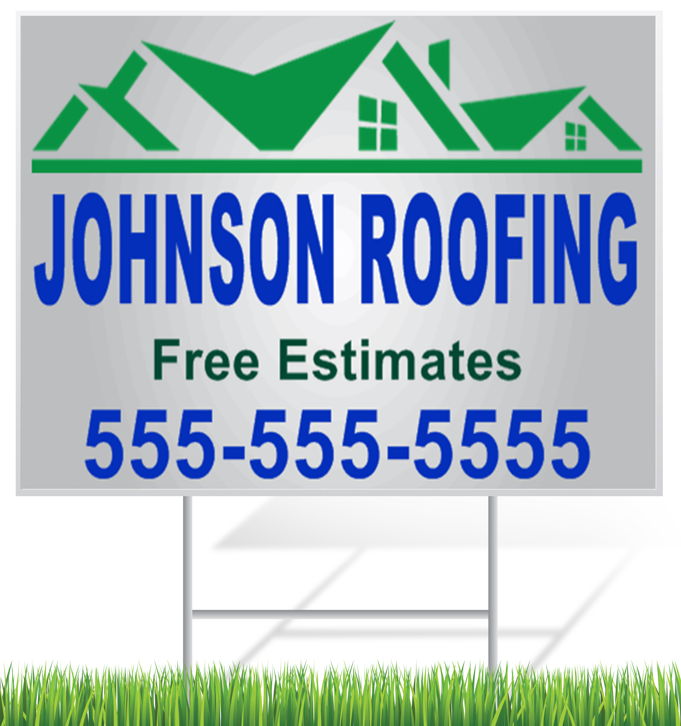 Roofing Contractor Lawn Signs | LawnSigns.com