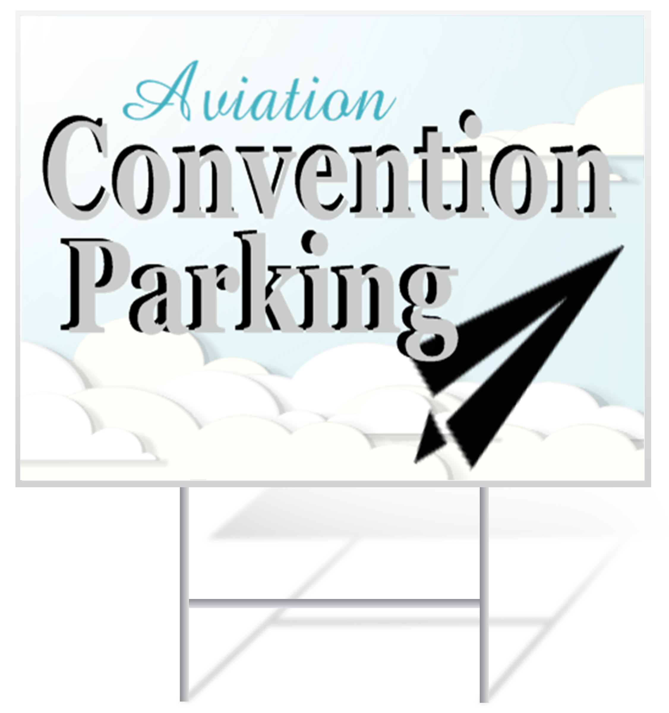 Convention Lawn Sign Example | LawnSigns.com
