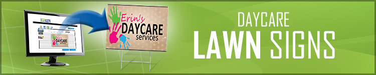 Day Care Lawn Signs | LawnSigns.com