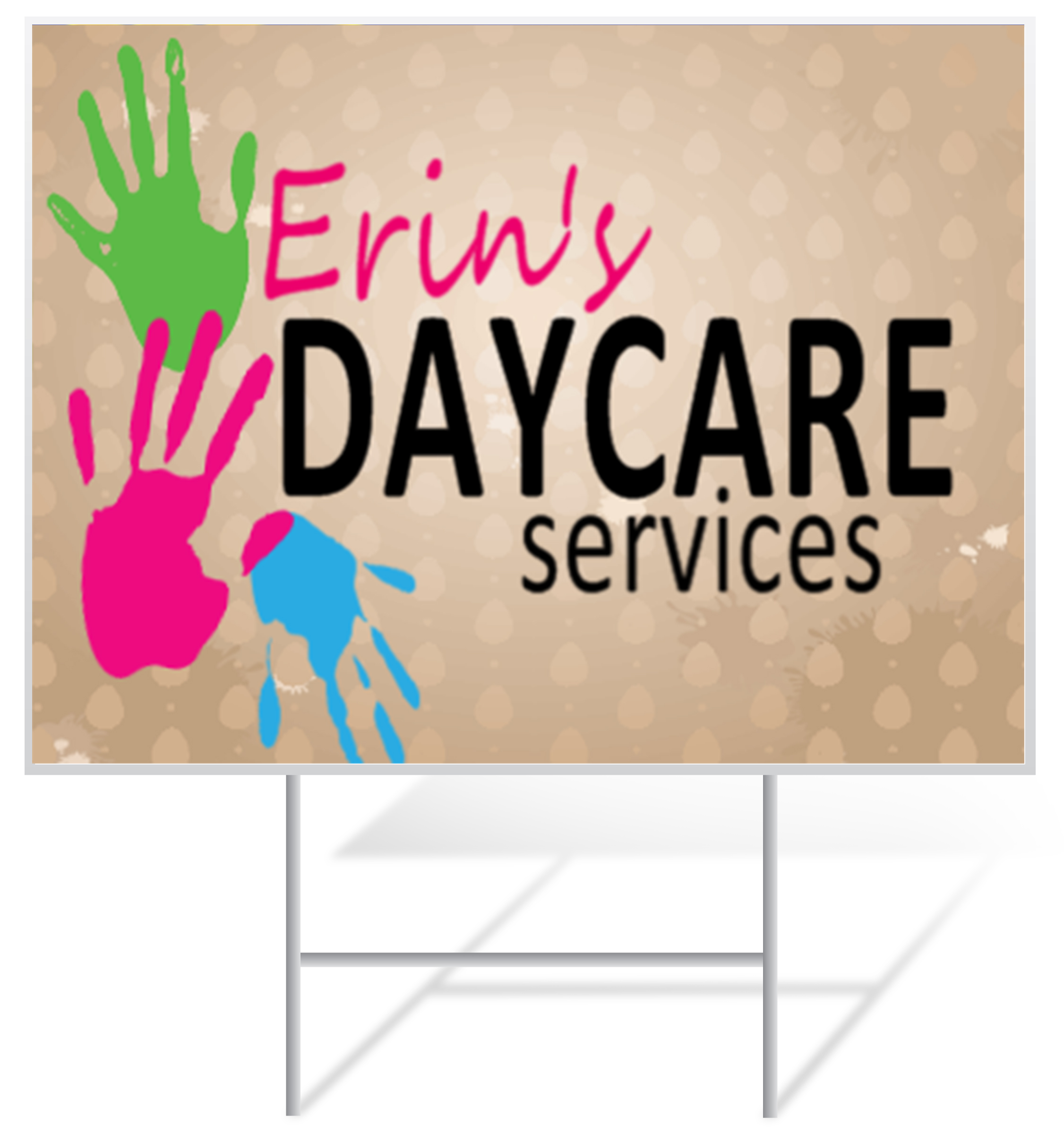 Daycare Lawn Sign Example | LawnSigns.com