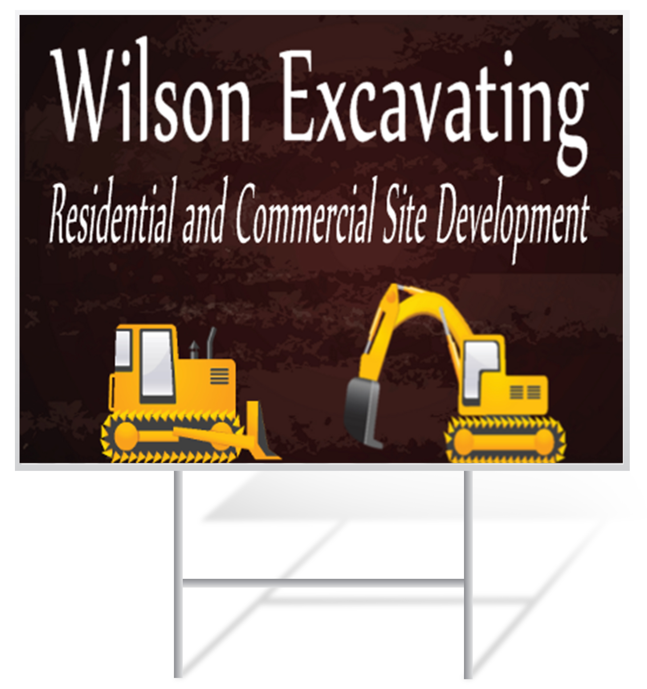 Excavating Lawn Signs | LawnSigns.com
