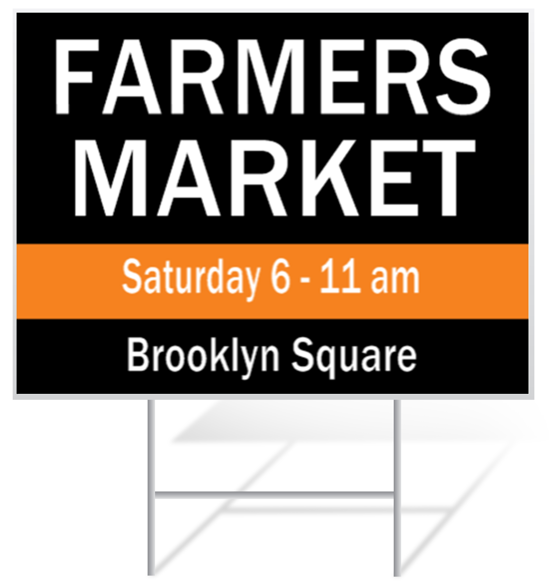 Farmers Market Lawn Sign Example | LawnSigns.com