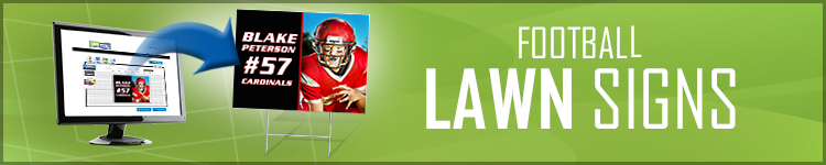 Football Lawn Signs | LawnSigns.com
