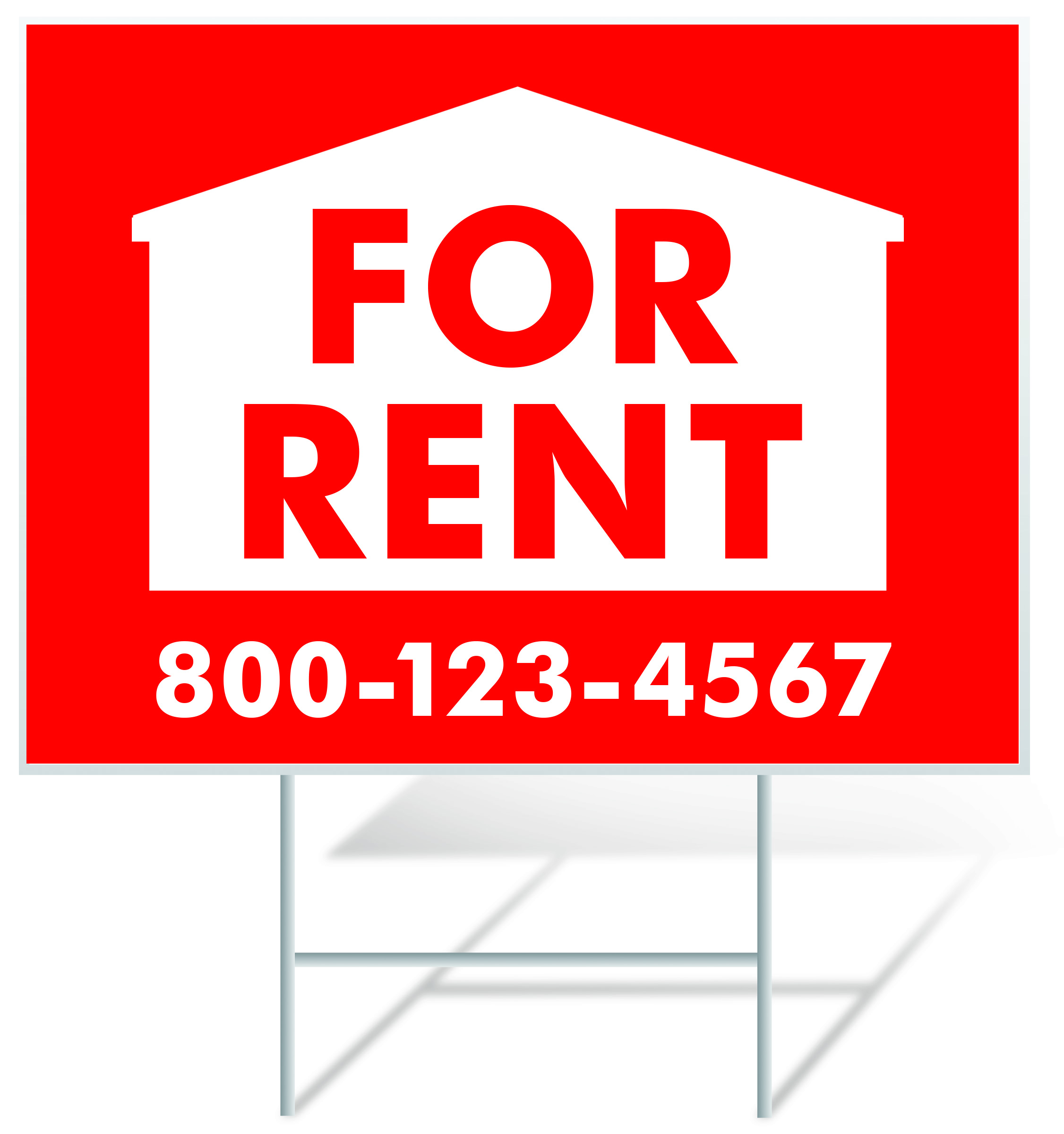 For Rent Lawn Sign Example | LawnSigns.com