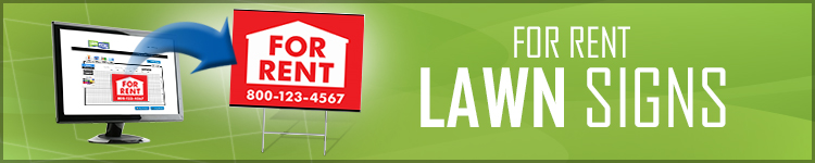 For Rent Lawn Signs | LawnSigns.com