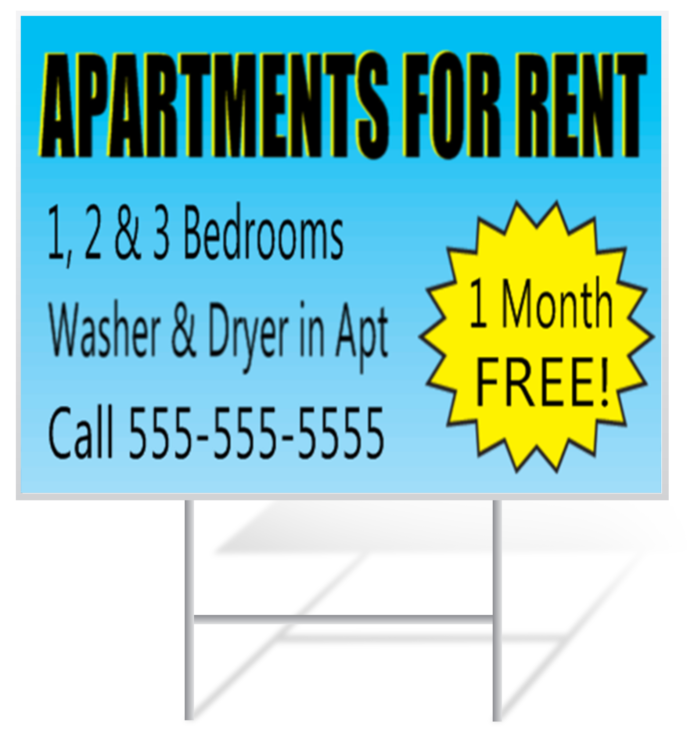 Apartment Lawn Sign Example | LawnSigns.com