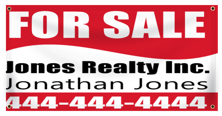 Real Estate For Sale Banner Idea | LawnSigns.com