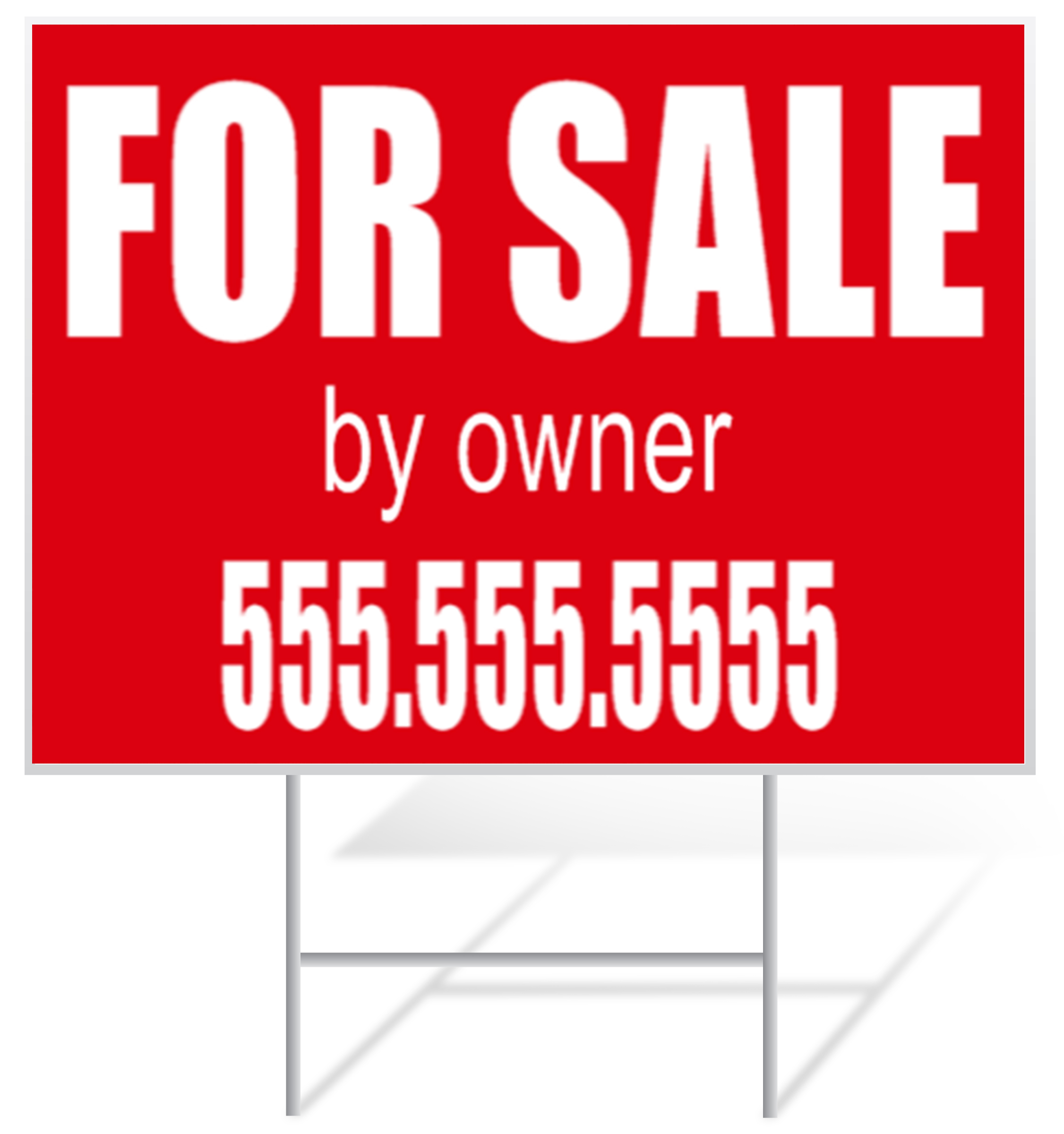 For Sale Lawn Sign Example | LawnSigns.com