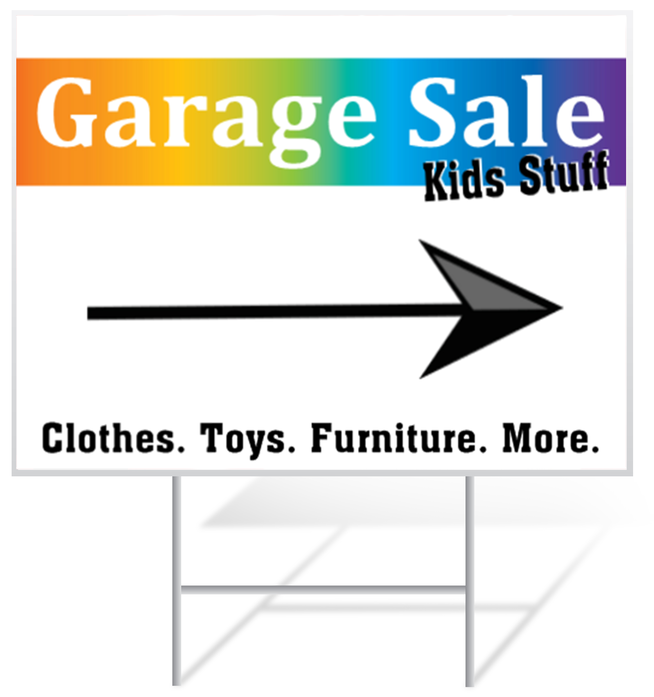Garage Sale Lawn Sign Example | LawnSigns.com