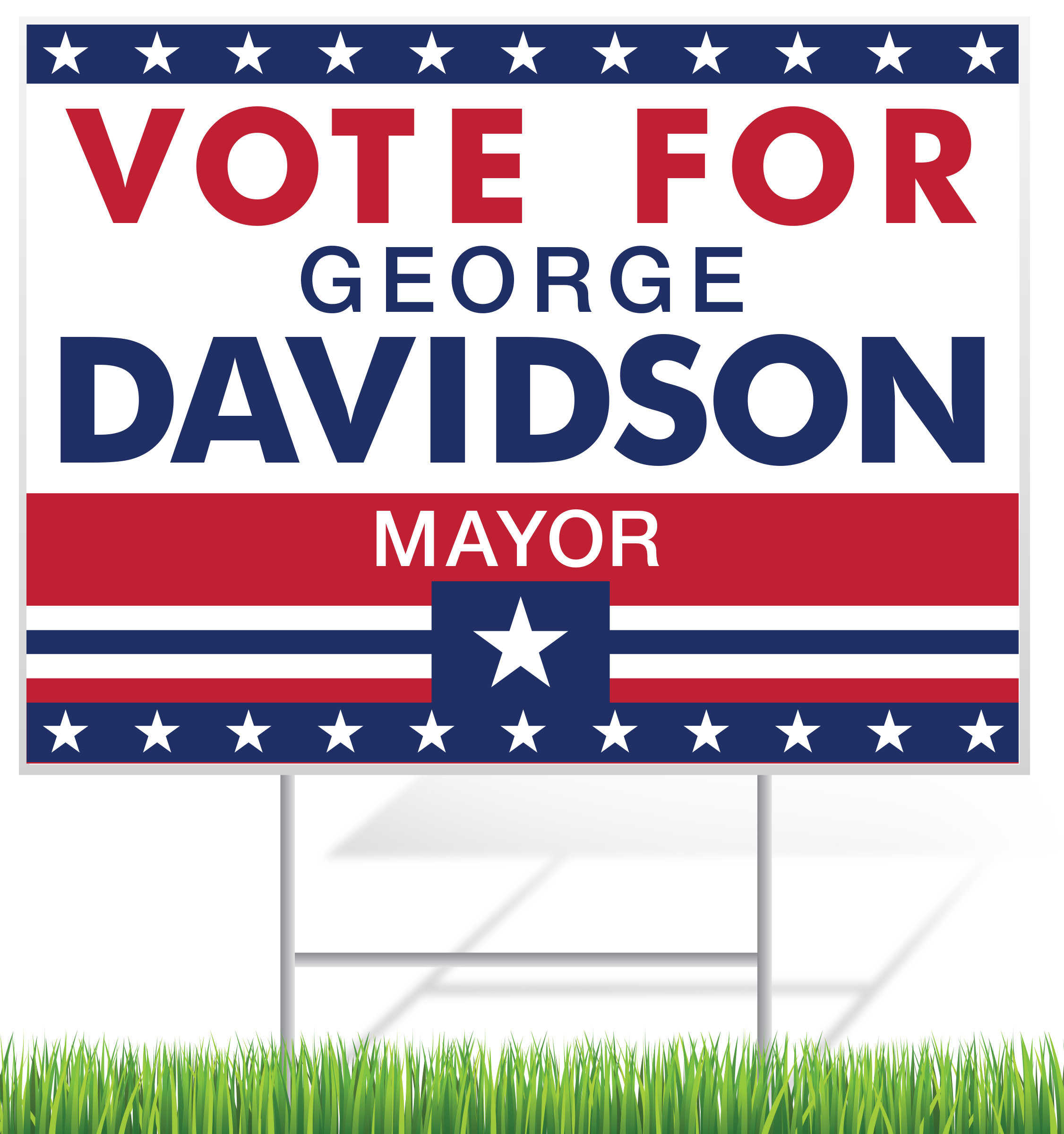Campaign Lawn Sign Example | LawnSigns.com