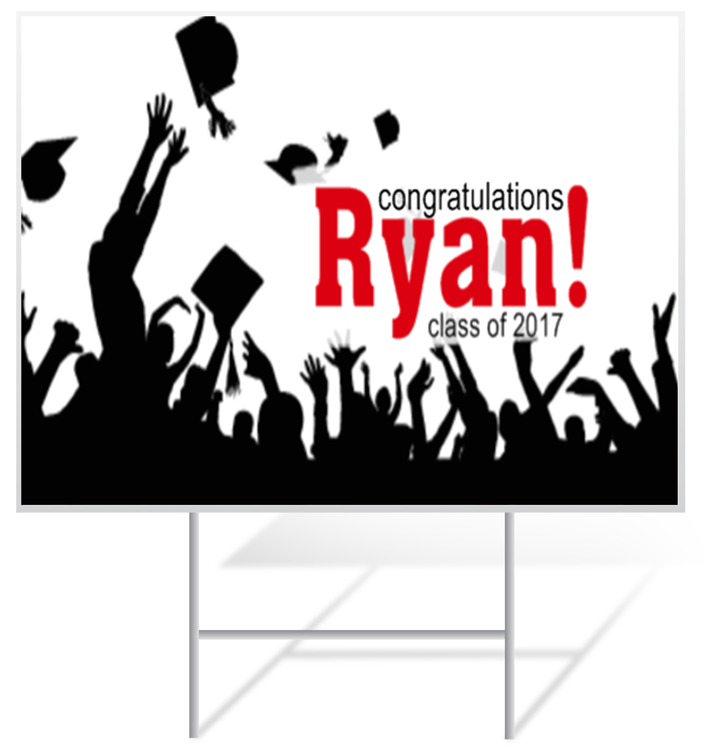Graduation Lawn Sign Example | LawnSigns.com