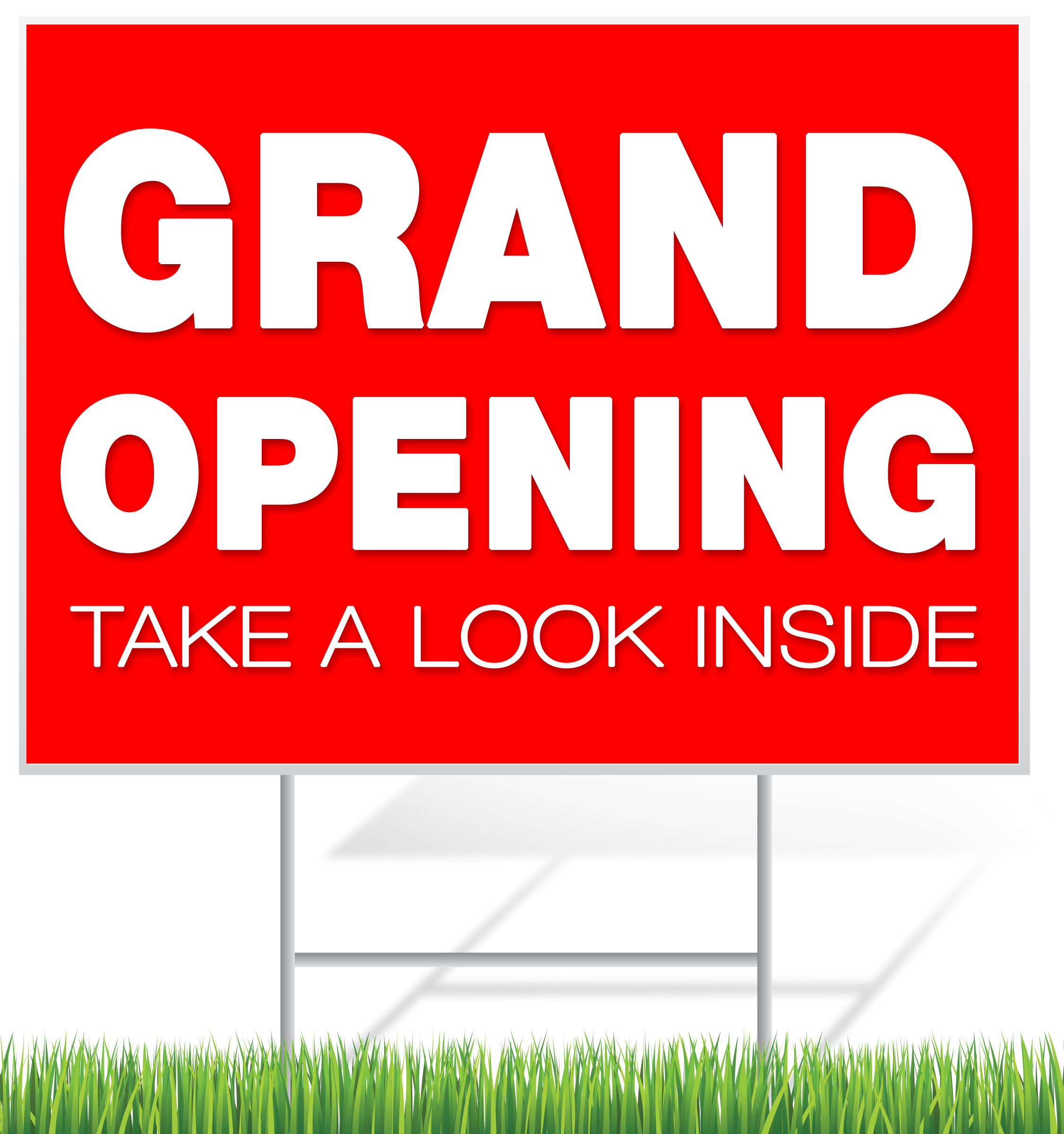 Grand Opening Lawn Sign Example | LawnSigns.com