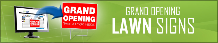 Grand Opening Lawn Signs | LawnSigns.coom