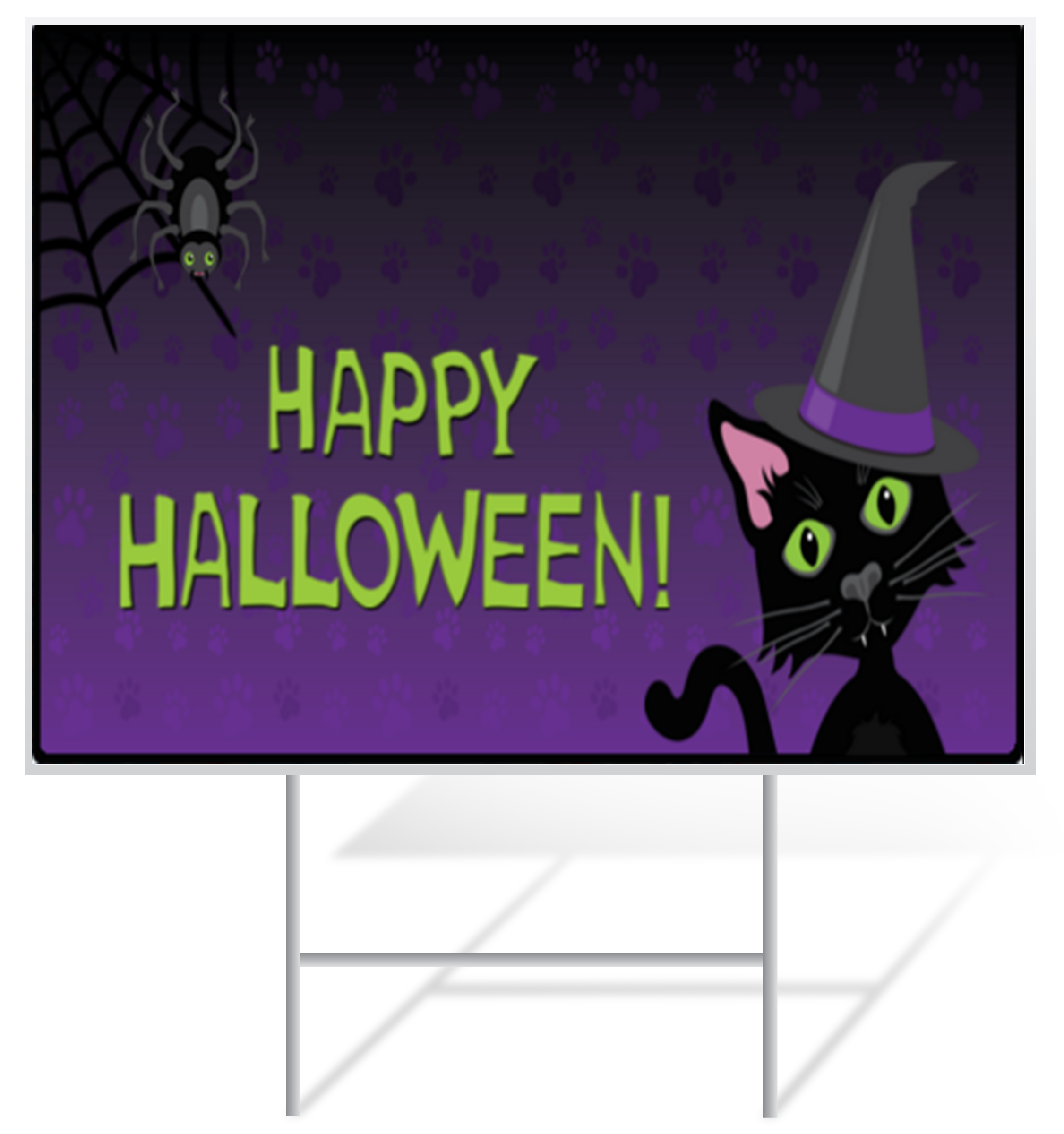Halloween Lawn Sign Example | LawnSigns.com