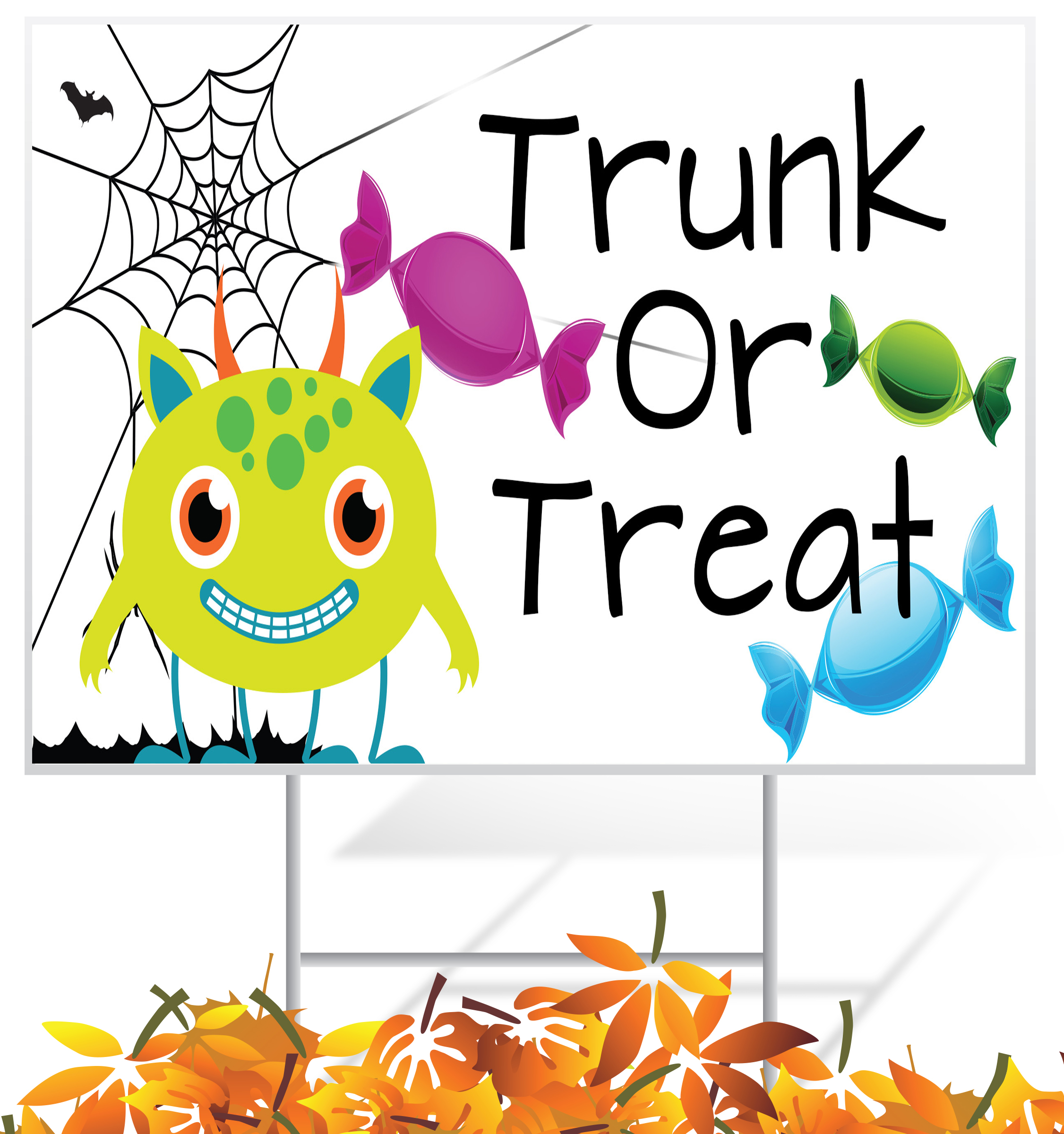 Fall Holiday Lawn Sign Example | LawnSigns.com