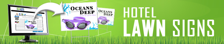 Hotels Lawn Signs | LawnSigns.com