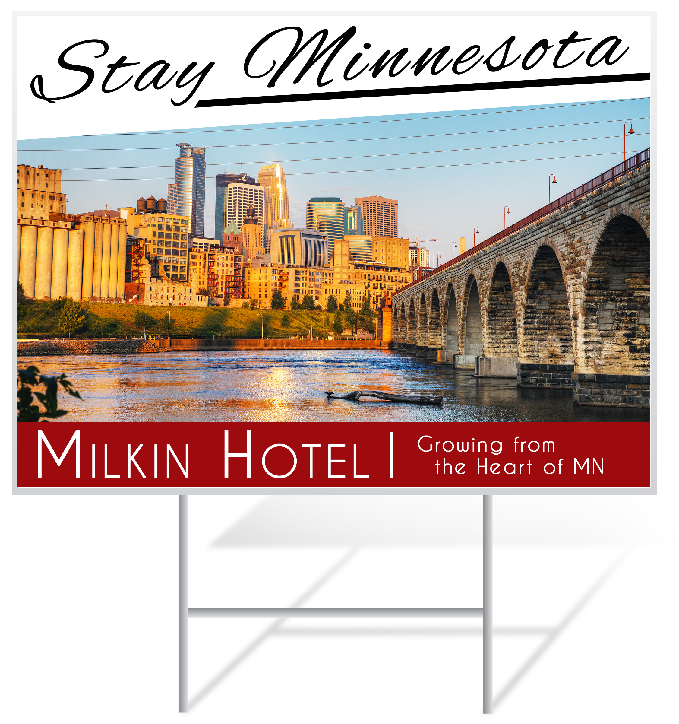 Hotel Lawn Sign Example | LawnSigns.com