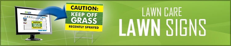 Lawn Care Lawn Signs from LawnSigns.com
