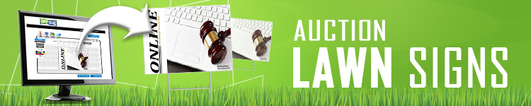 Auction Lawn Signs | LawnSigns.com